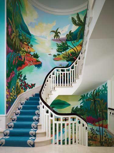 tranh tường cầu thang đẹp nhất
