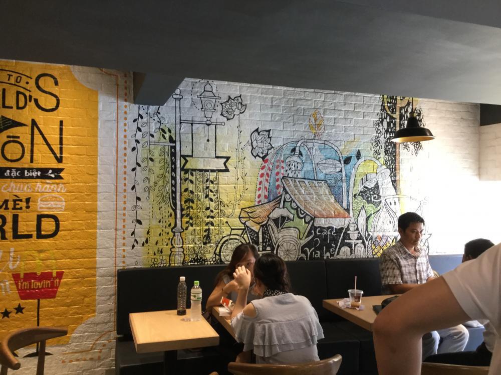 họa sĩ vẽ tranh tường, tranh tường mầm non, tranh 3d, tranh tường phòng khách, trang trí quán cafe giá rẻ