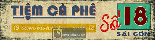 Mẫu vẽ bảng hiệu theo phong cách gài gòn xưa độn đáo tại sài gòn